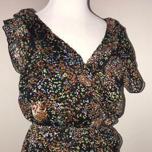Autumn foliage sleeveless dress